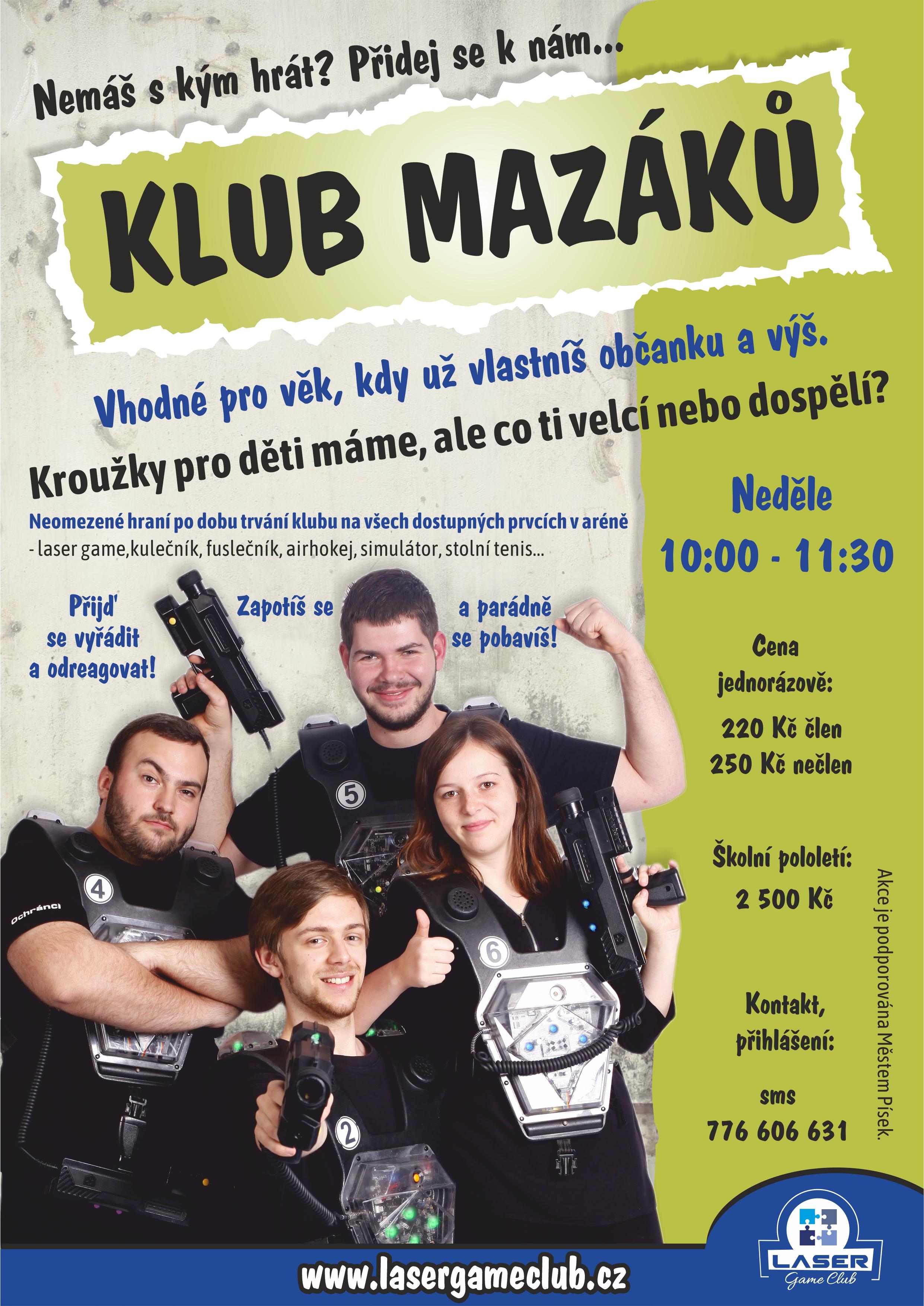 Klub mazáků - plakát
